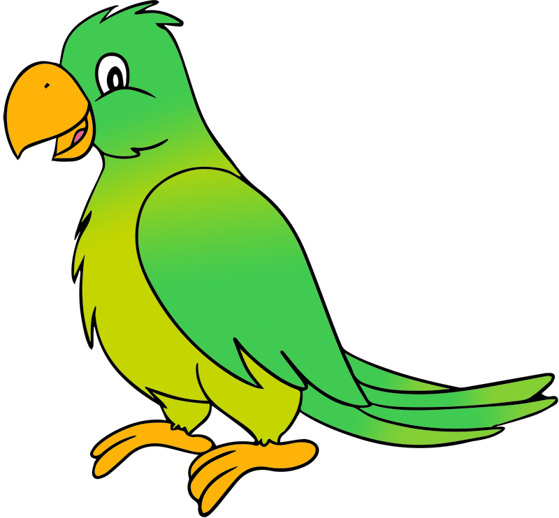 jpg freeuse library Green . Parrot clipart.
