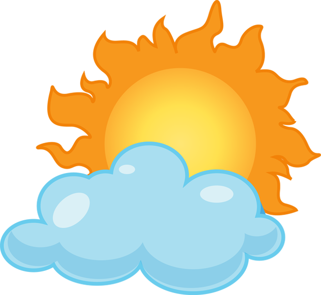 jpg free Partly clipart. Cloudy