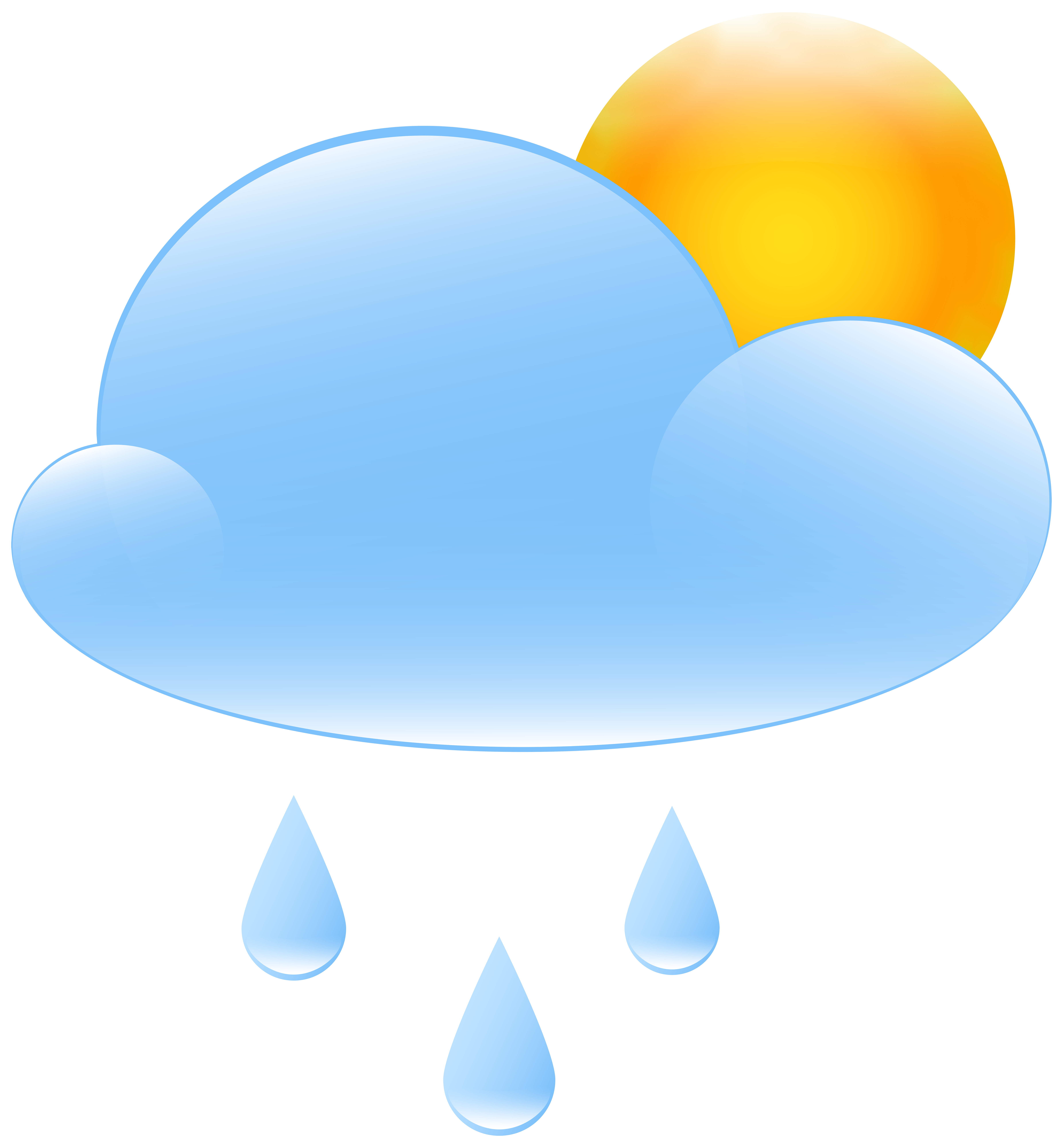 picture transparent library Cloudy with sun and. Partly clipart