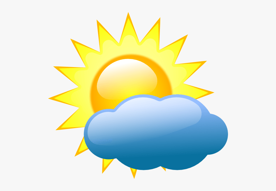 png freeuse library Partly clipart. Cartoon weather symbols cloudy