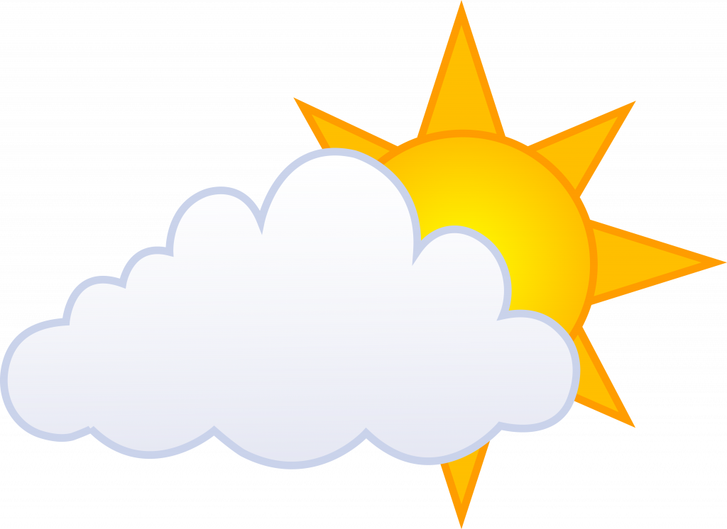 clip art free Free cloudy weather vector. Partly clipart