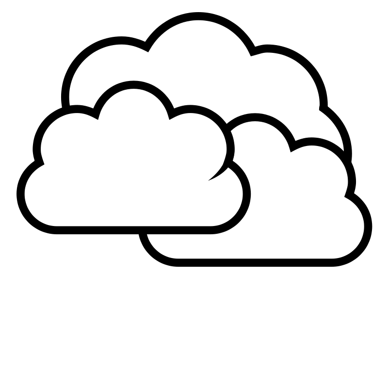 clip black and white Partly Cloudy Clipart