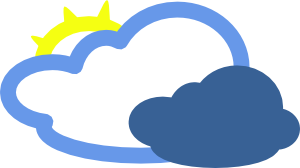 freeuse download Heavy Clouds And Sun Weather Symbol Clip Art at Clker