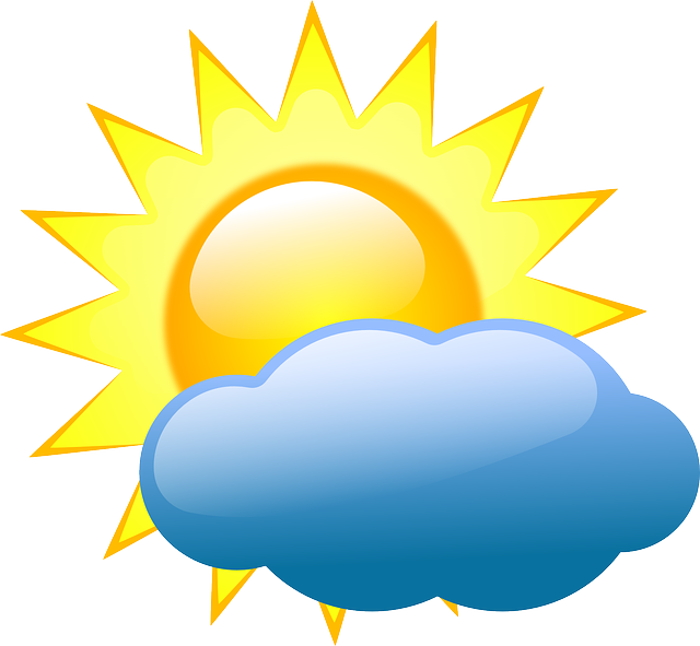 image free library Partly sunny clipart. Difference between cloudy and