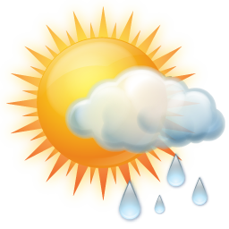 clip transparent stock Shower Clipart partly cloudy weather