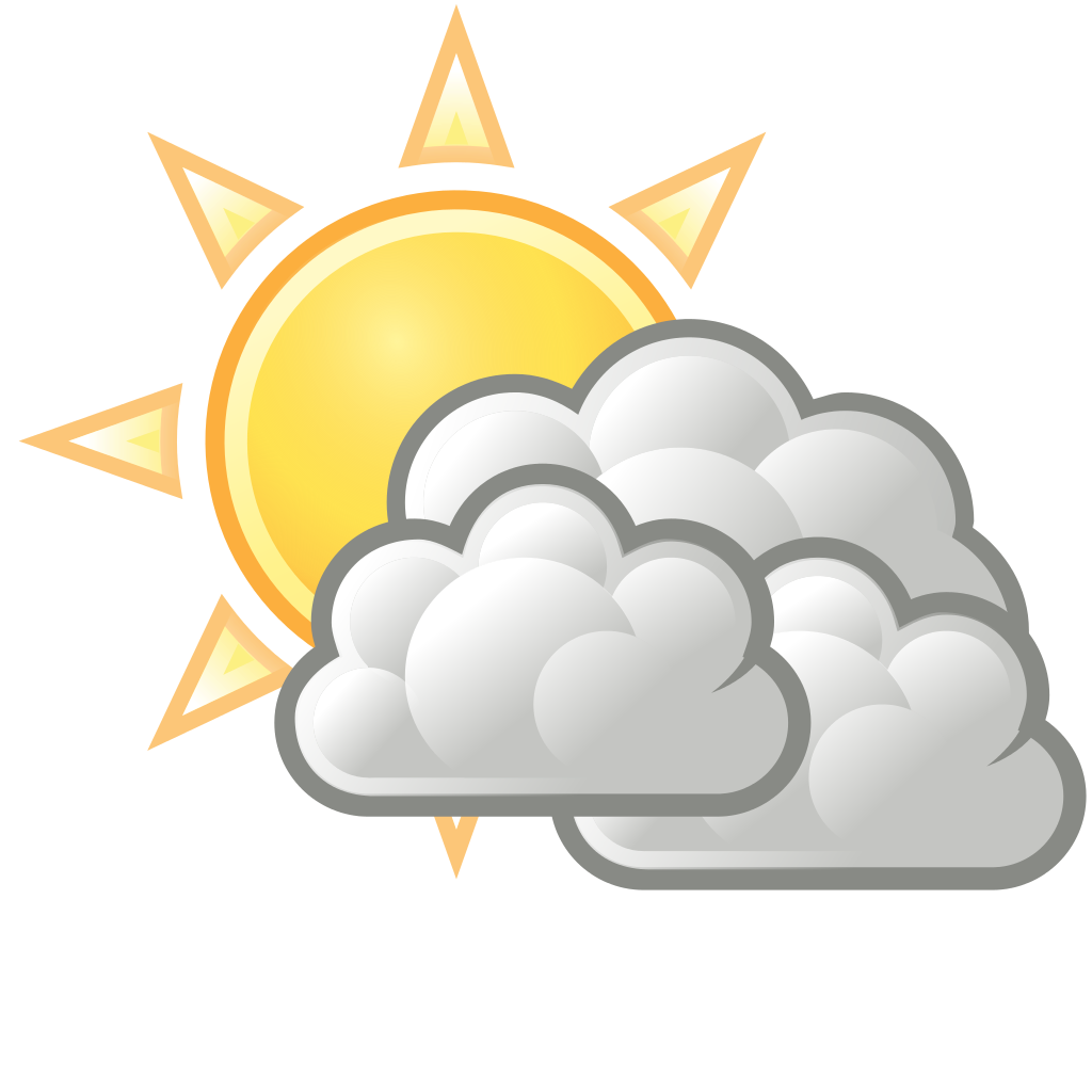 svg royalty free stock Weather forecast may th. Partly sunny clipart
