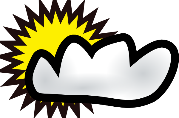 png download Sunny Partly Cloudy Weather Clip Art at Clker
