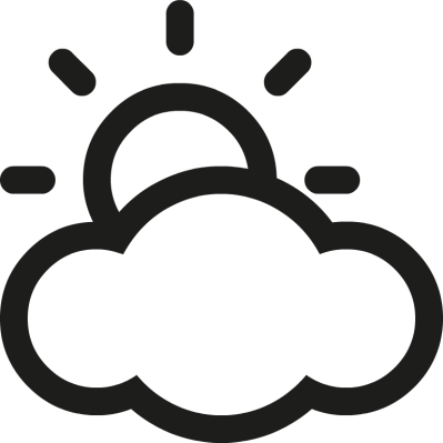 png royalty free library  collection of high. Partly cloudy clipart black and white