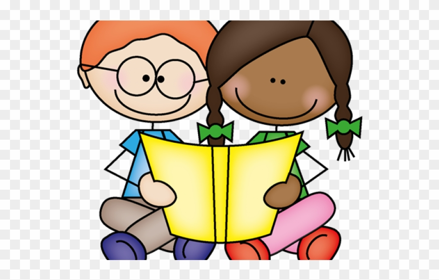 svg royalty free Kids reading clipart. Partners clip art png