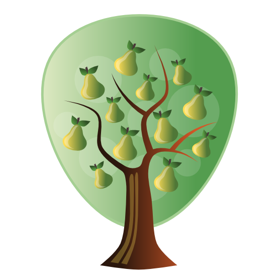 graphic transparent stock Pear Tree Cartoon
