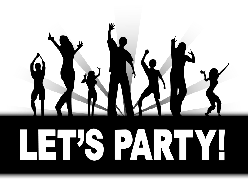 freeuse stock Karaoke party clipart. Free graphics of parties