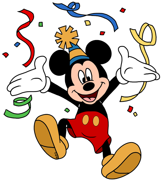 vector transparent Party clipart. Disney birthdays and parties