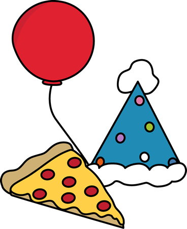 svg freeuse Pizza Party Clip Art