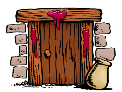 picture download Passover clipart. Blood on doorway moses.