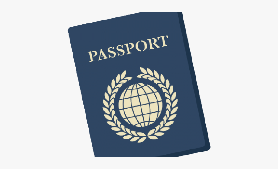 svg black and white stock Passport clipart. Travel clip art