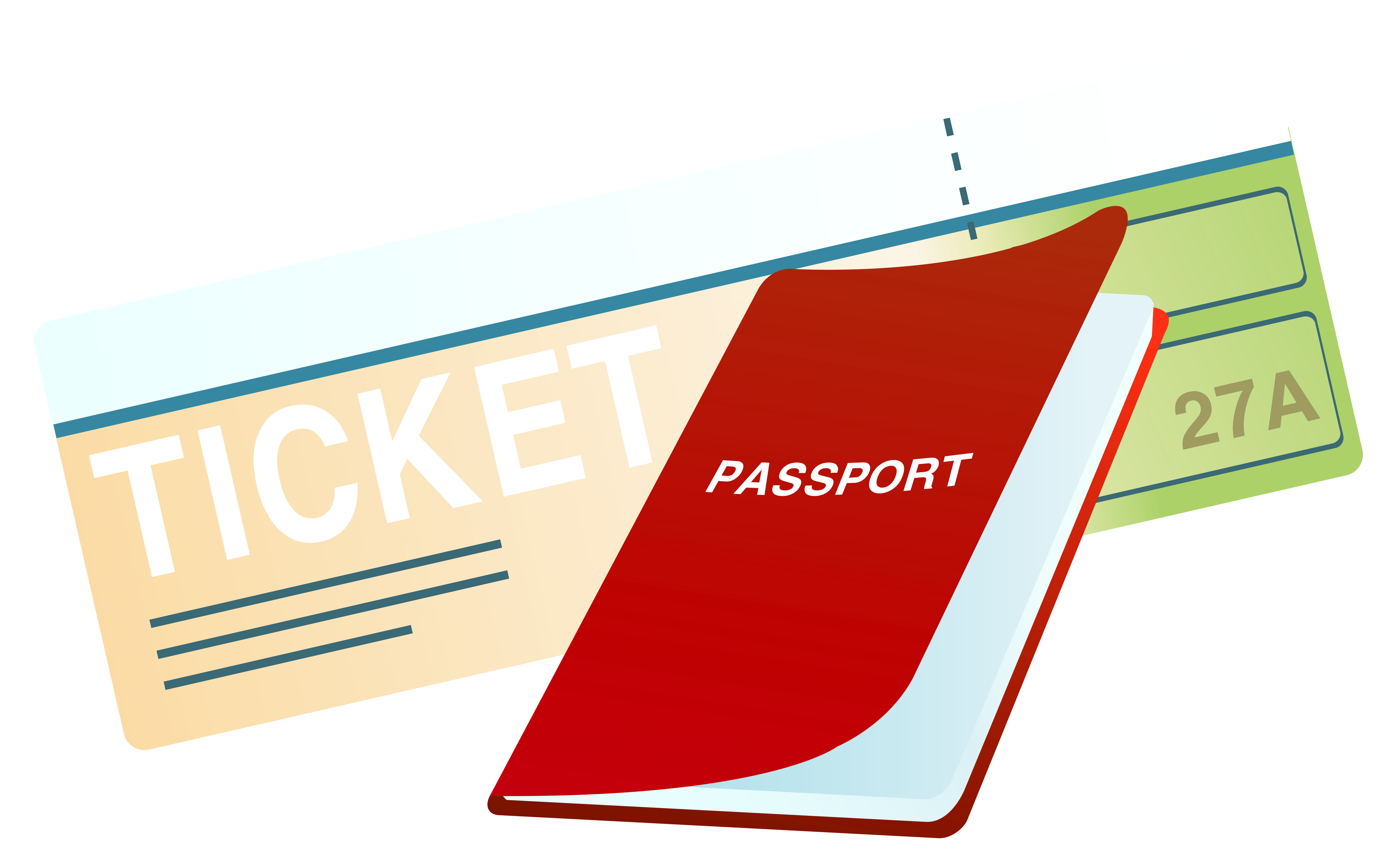 png library stock Passport clipart. Ticket and png image