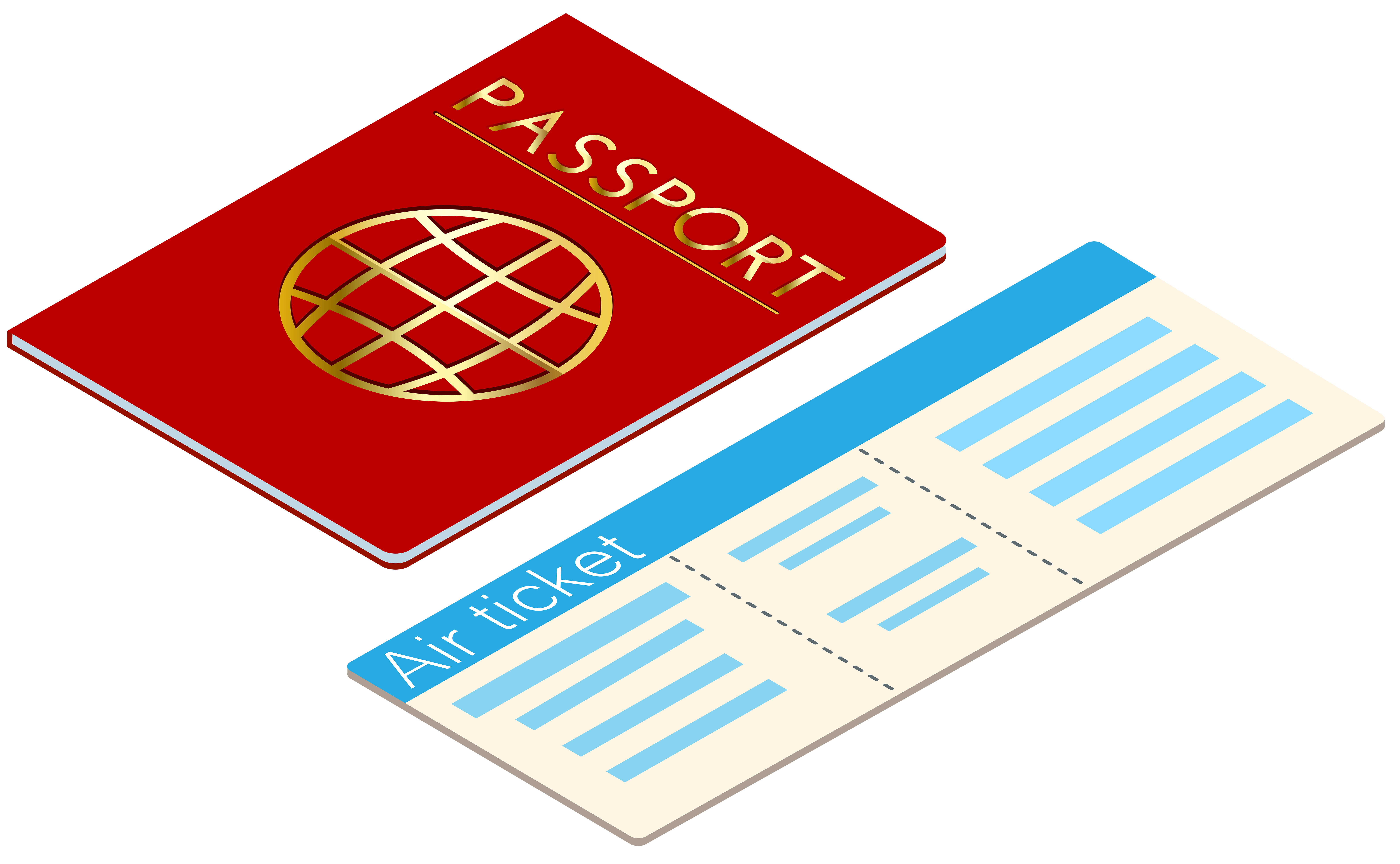 graphic library And ticket transparent clip. Passport clipart