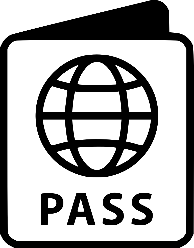 graphic free download Passport clipart black and white. Drawing at getdrawings com