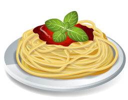 vector black and white Pasta clipart.  collection of images.