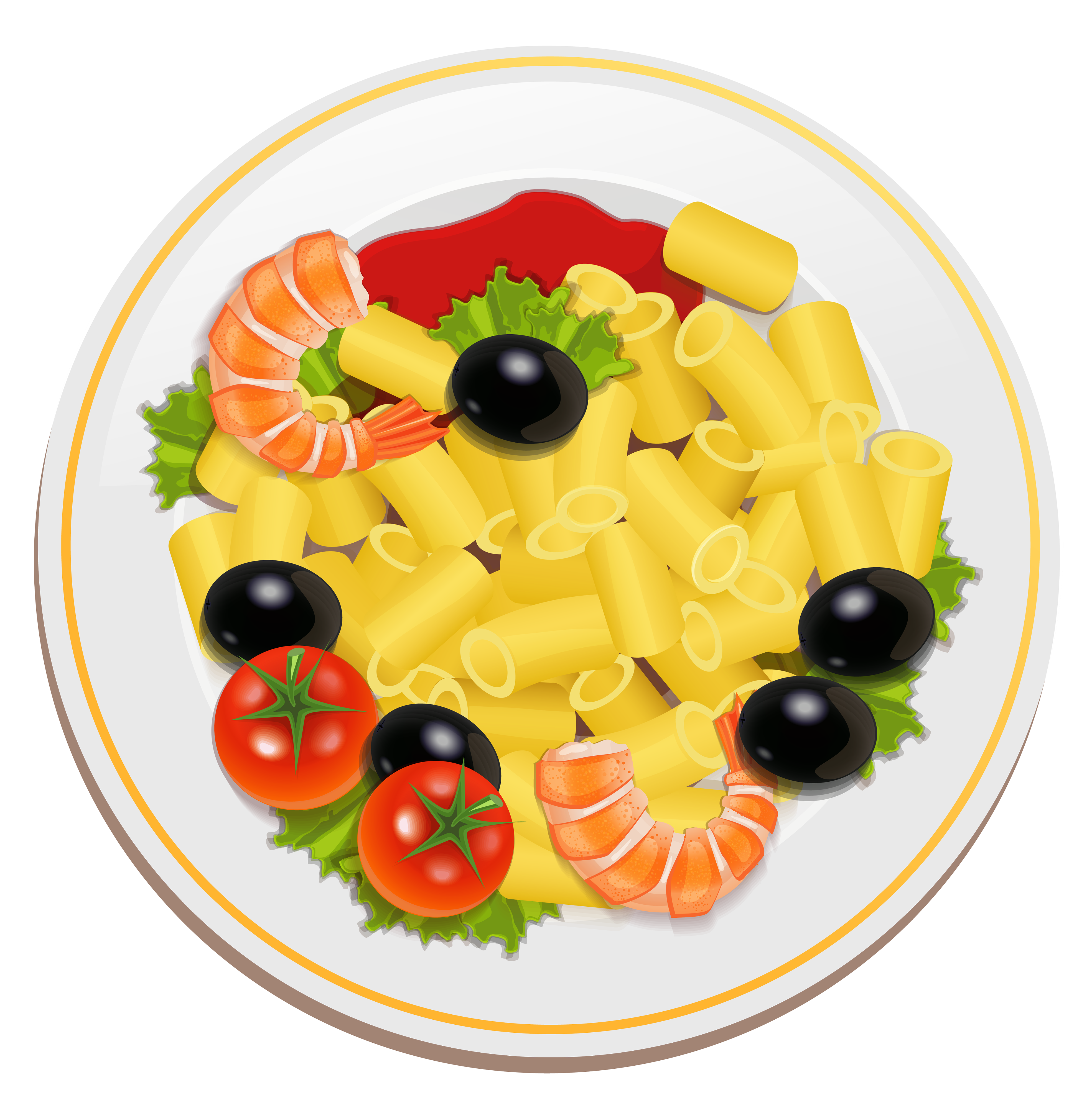 banner royalty free library Pasta clipart. With shrimps png best.