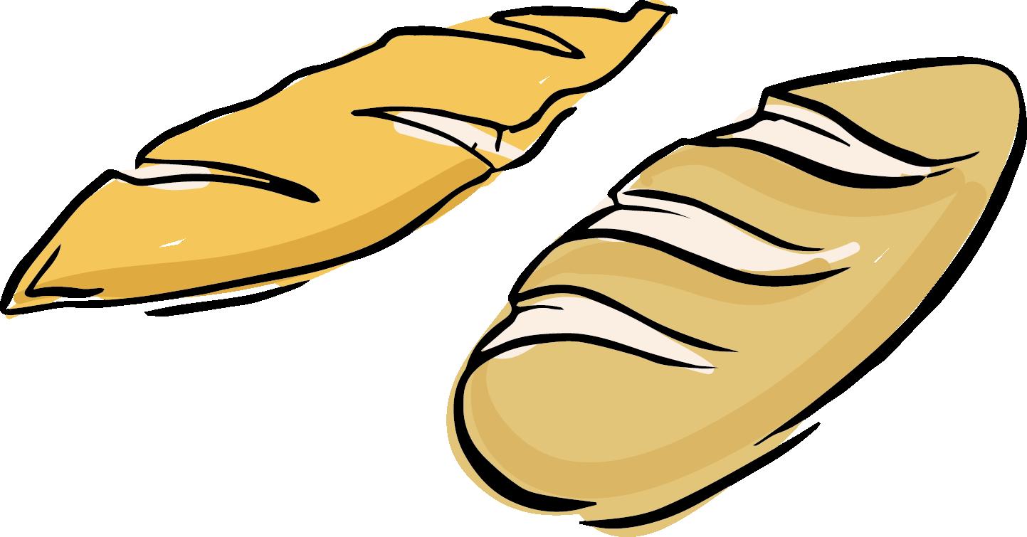 clip free Breakfast Toast Pineapple bun Baguette Clip art