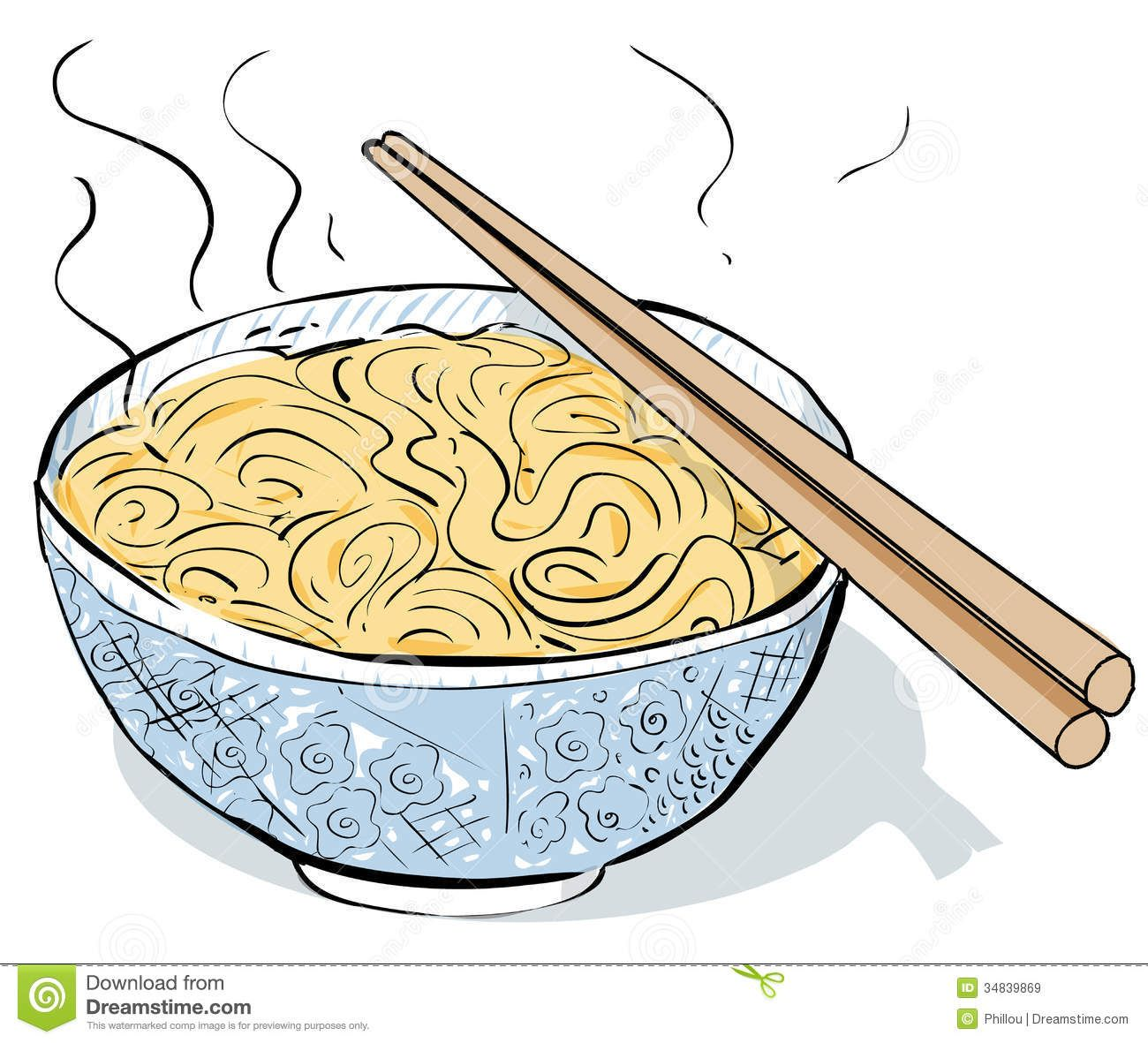 graphic freeuse Chinese noodles steaming royalty. Noodle clipart