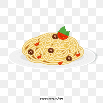 banner black and white Pasta Vector