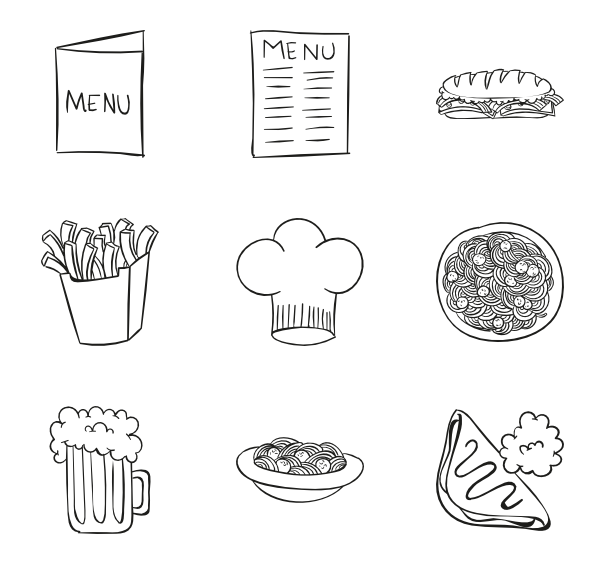 svg free download Pasta Icons