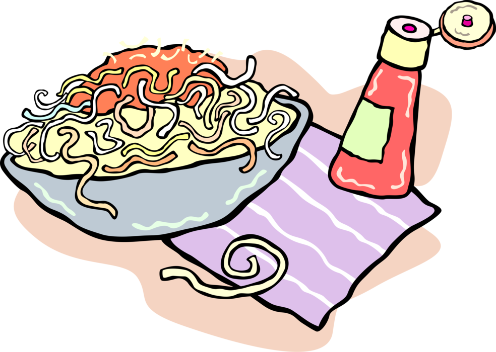 royalty free Spaghetti Pasta Dinner in Bowl