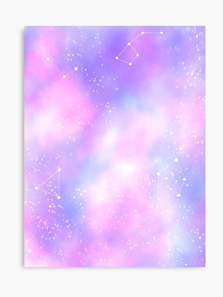graphic library Pastel galaxy. Canvas print