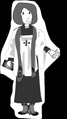 jpg freeuse stock Pastor clipart. Female .