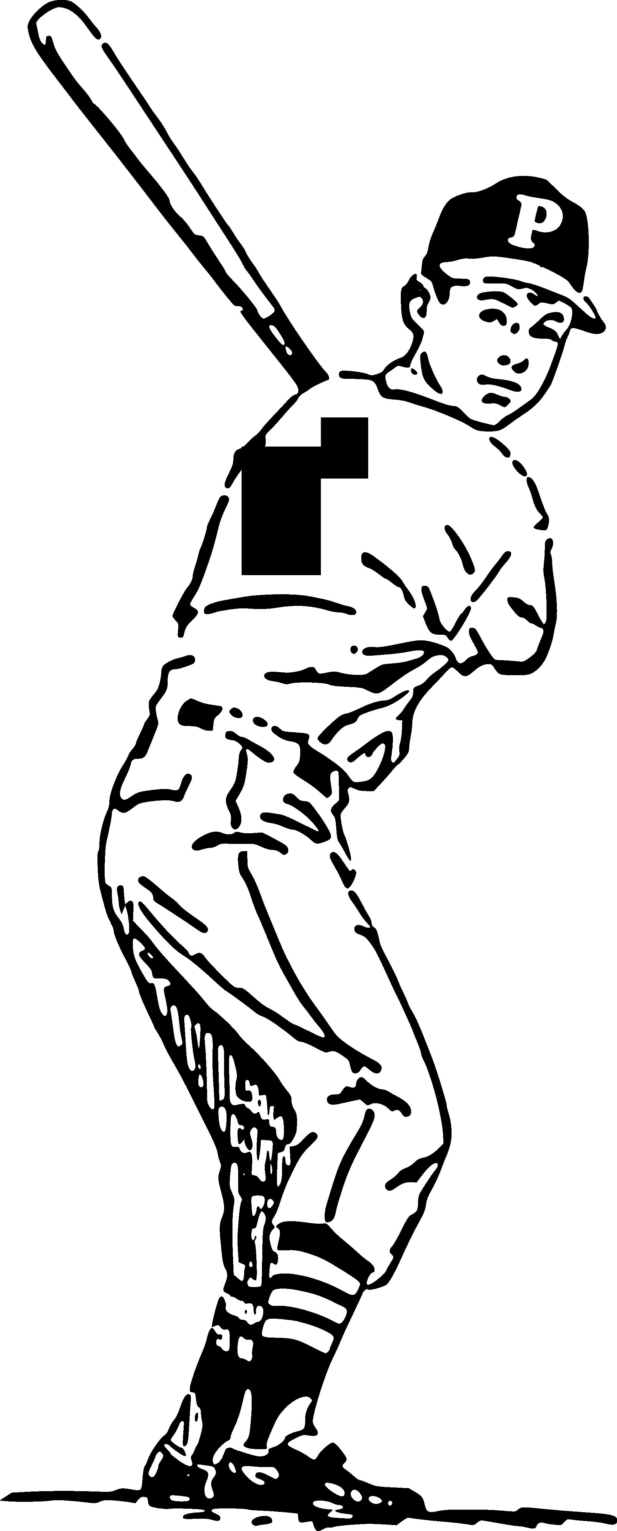 vector transparent Closet clipart black and white. Baseball player batter swinging