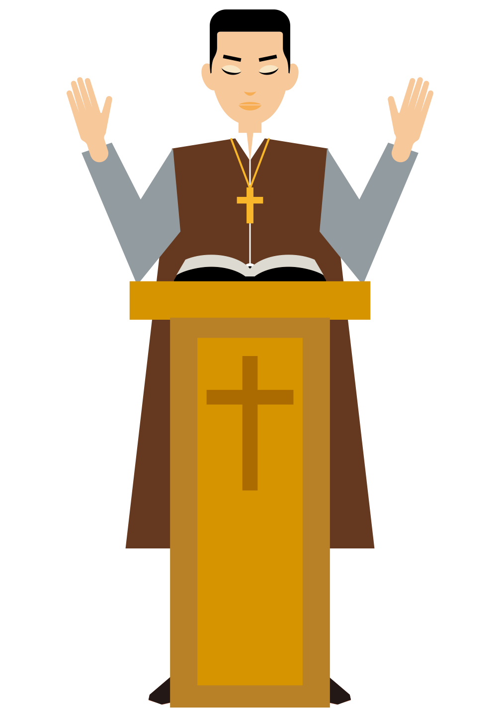 freeuse library Cartoon illustration christian priests. Priest clipart pastor.