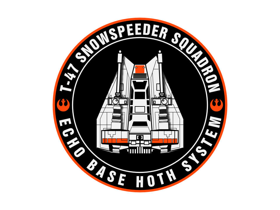 clip art free stock Patch vector. T snowspeeder badge created.