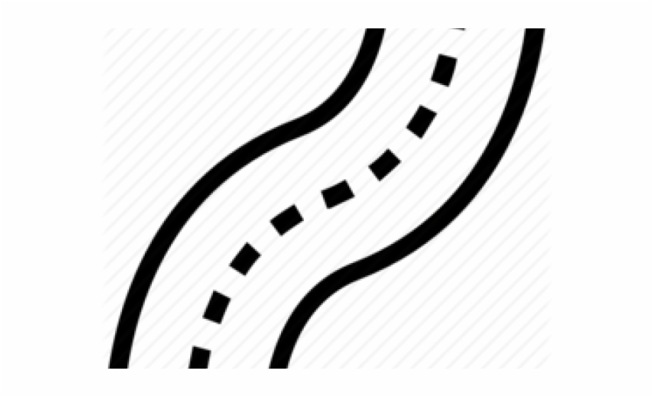jpg freeuse download Zigzag road line art. Path clipart