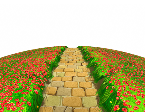 picture freeuse stock Path clipart. Stone with flowers ground