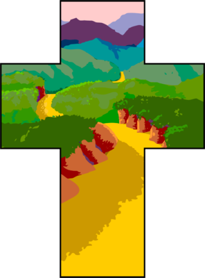 vector pathway clipart hill #44461894
