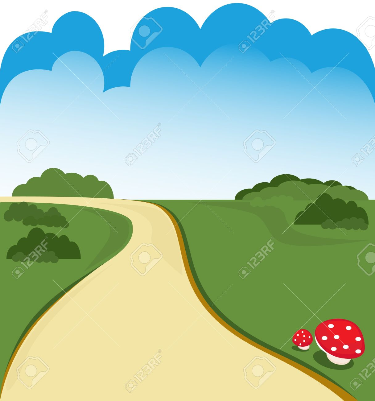 clip art transparent download Highway rural road transparent. Yard clipart grassy path