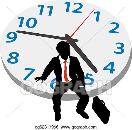graphic library Patience clipart business. Vector art man wait