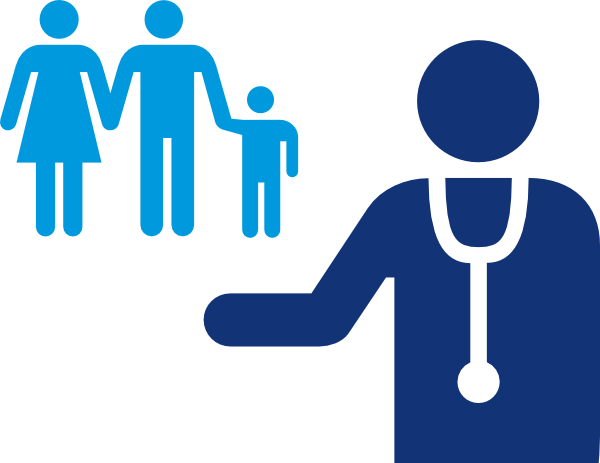 image royalty free download Doctor And Patient Blue Clip Art at Clker