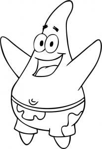 graphic How to draw star. Patrick drawing.