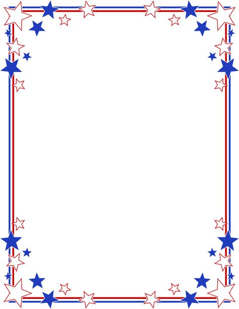 graphic library library Stripes page border stars. Patriotic clipart borders