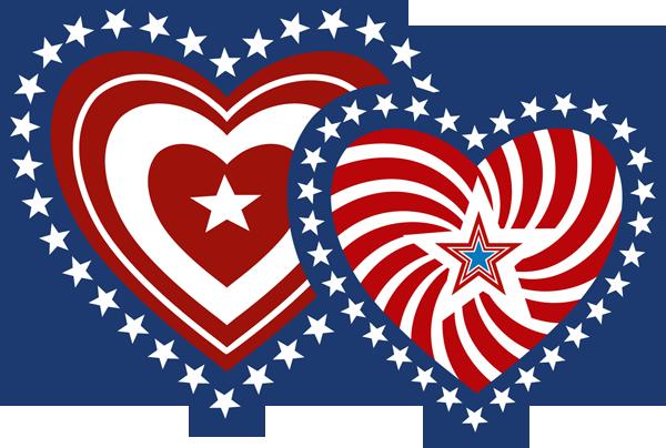 png library download Hearts clip art summer. Patriotic clipart