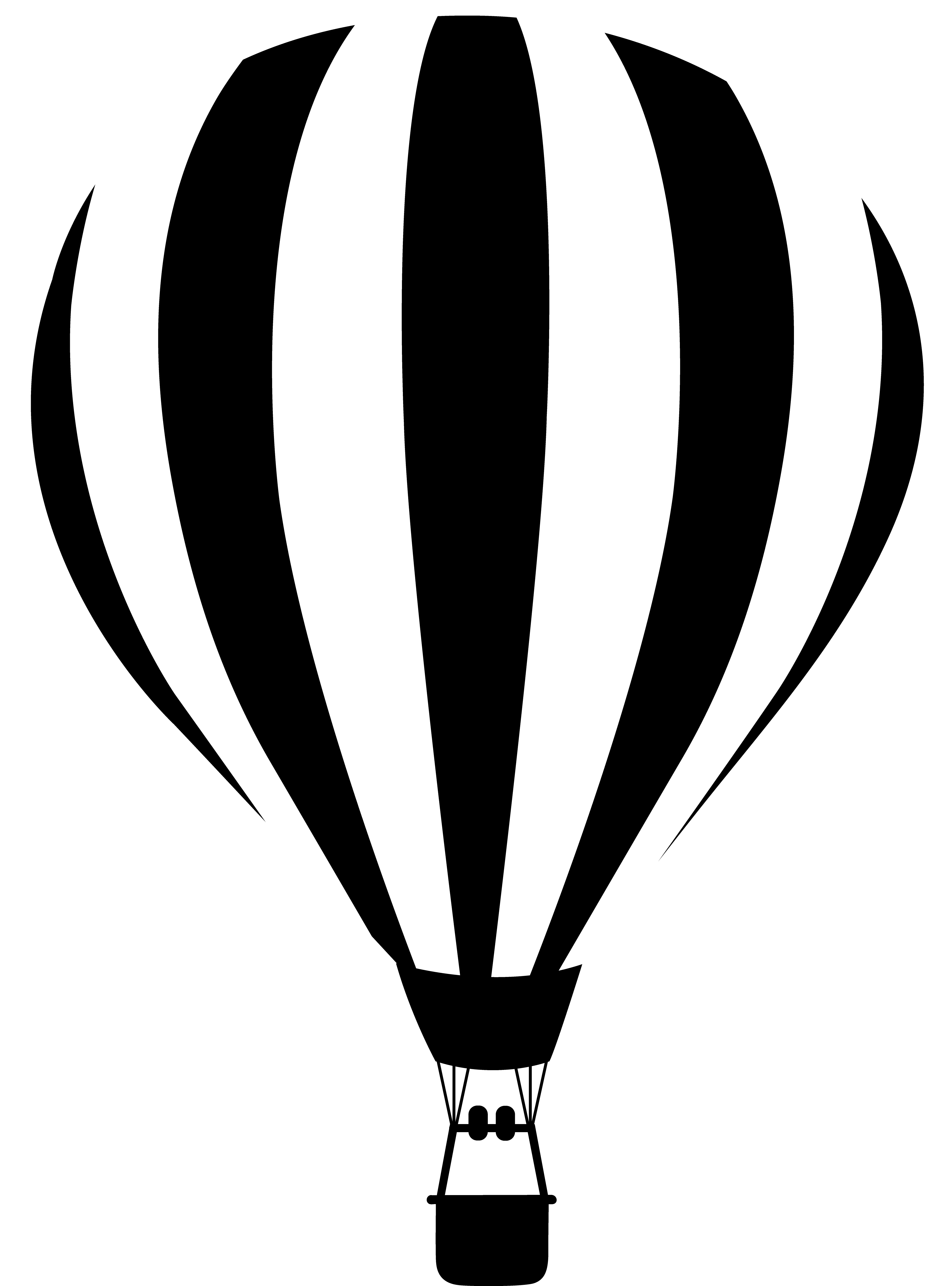 png transparent download Vector balloon black and white. Air silhouette at getdrawings