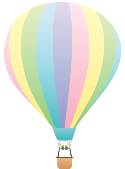 graphic stock Rainbow hot air balloon. Vector color pastel