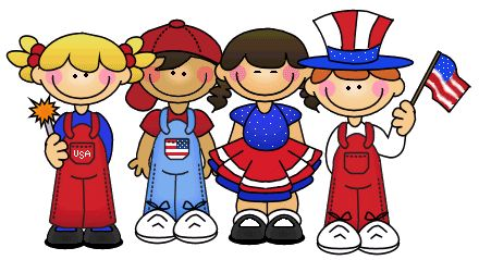 png library . Patriotic kids clipart