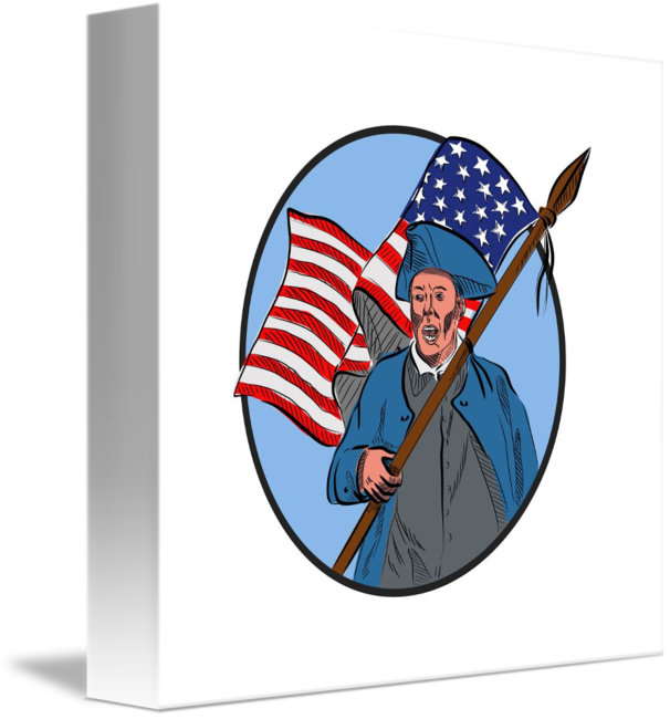 graphic download American patriot carrying usa. Patriots drawing retro