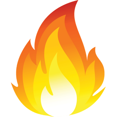 picture library library Cartoon Fire Flames Emoji Png Transparent