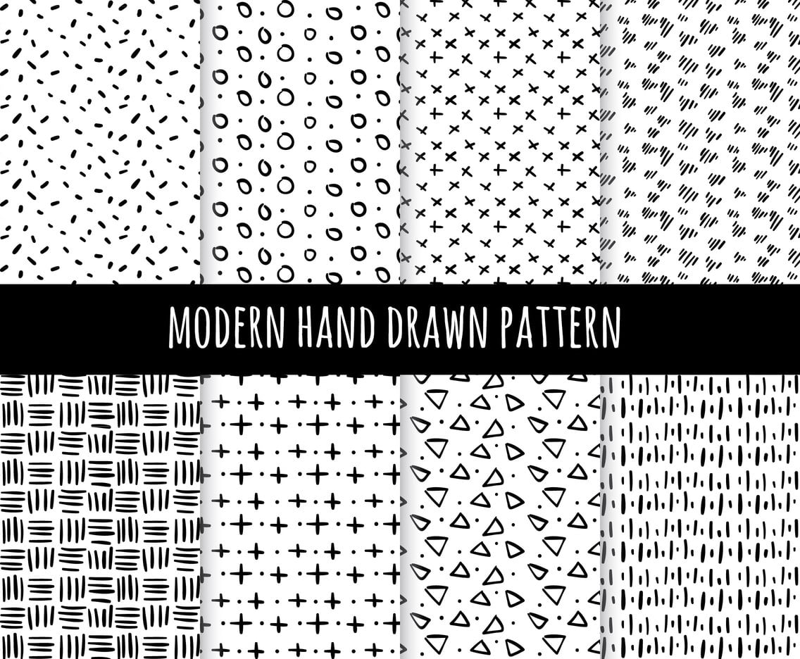 clip art freeuse library Pattern svg modern. Hand drawn collection vector