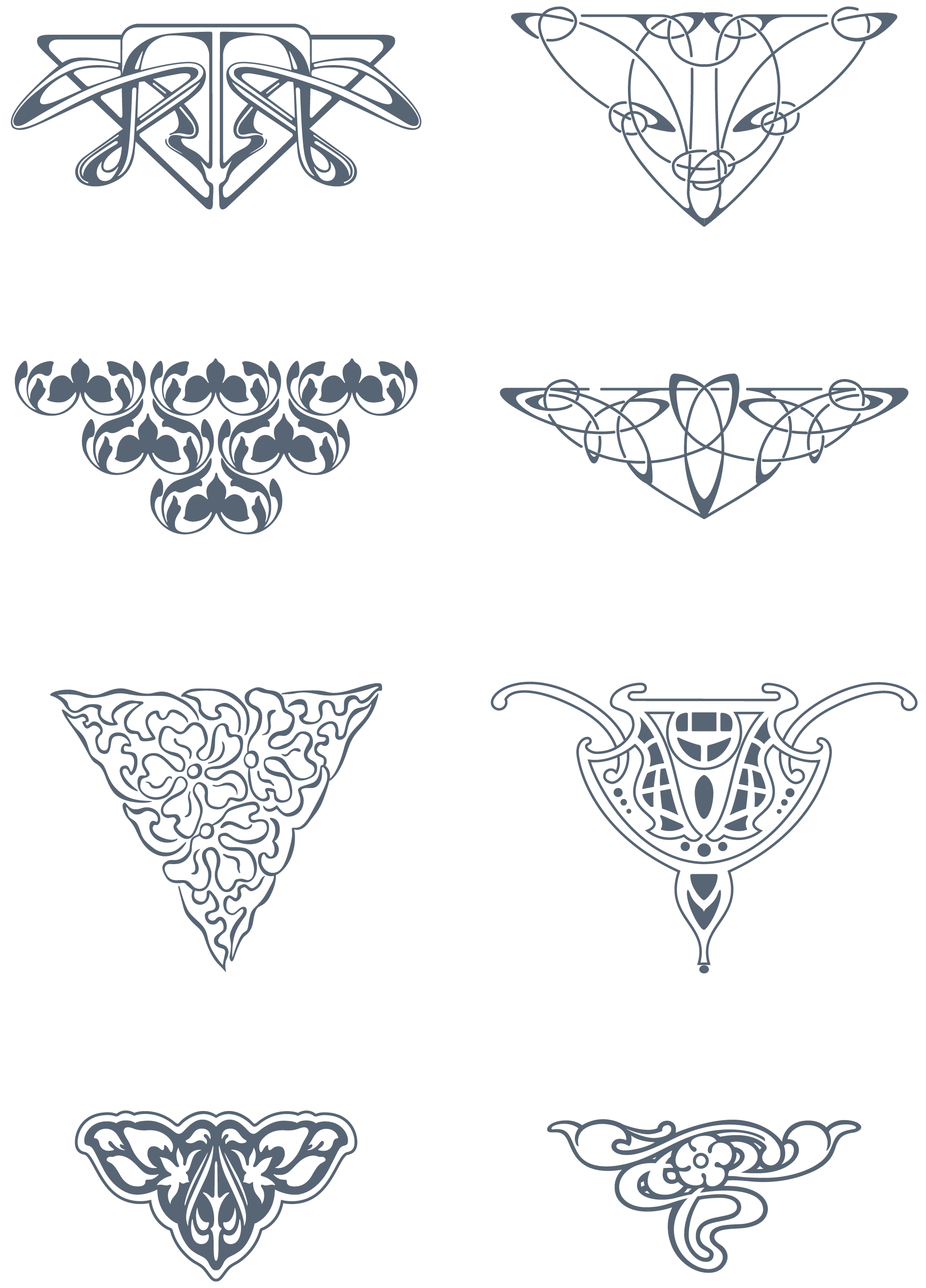 picture royalty free library Art Nouveau Ornaments
